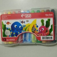 Crayon oil pastel TiTi 12 warna