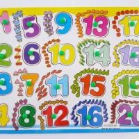 Mainan Edukatif / Edukasi Anak - Puzzle Knop Angka Gambar Berh BAGUS