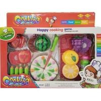 Mainan Edukasi Anak - Cooking Play Set Buah Kue Potong Fruit TERMURAH