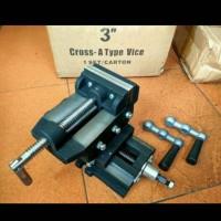 """Ragum cross 3"""" inch inci Catok silang bench cros Vise mesin bor frais"""