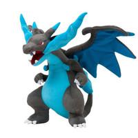 Boneka Figure Pokemon Mega Charizard Evolution Warna Blue Biru