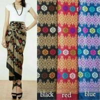 rok kain lilit serut semi sutra batik