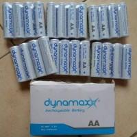 Baterai Batre Battery Dynamax AA Rechargeable Cas Charge 1000 mAh