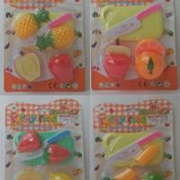 Mainan Edukasi Anak - Funny Food Buah Sayur Potong Isi 2 Mura TERBATAS