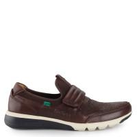 Sepatu Formal Kickers Slip On Casual Leather 2319 Original - Coffee