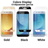 Samsung Galaxy J7 Pro / J730 Tempered Glass Warna Full Cover