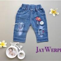 celana babyboy EIFEL JAY celana bayi anak jeans santai playsuit import