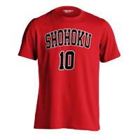 Kaos Brand Trilogy Anime Slam Dunk Hanamichi Sakuragi T-shirt - Merah, S