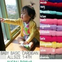 Pakaian Jaket Sweater Rajut Crop Twist Cardigan Anak Baby Bayi