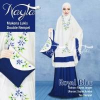 Mukena Lukis Doubel Rempel Nayla Katun Rayon Bali Super Jumbo Premium