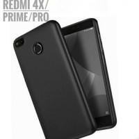 Casing Xiaomi Redmi 4X / Prime Case Soft Matte Black Silicon Cover