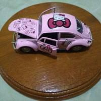 Diecast Mobil Miniatur 1:38 Motif Hello Kitty Pink HK