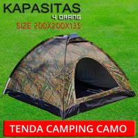 tenda camping motif camo perbakin kapasitas 4 orang
