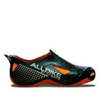 AKsesoris Motor O2 Sepatu AllBike Hitam ORANGE Sepatu Boots Biker Sep