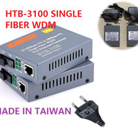 1 Pair 100 Mbps Fiber Optik Media Converter Optic RJ45 with Cable LAN