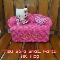 Tempat cover kotak box tissue tisu tissu boneka hello kitty pink fanta