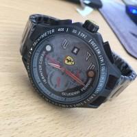Jam Tangan Pria Formal Ferrari Scuderia 130996 Premium Black Grey