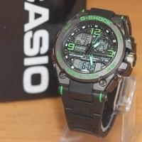 Jam Tangan Pria Casio G-Shock G8600 Dualtime Black list Green Kw-Supe