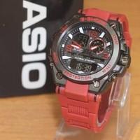 Jam Tangan Pria Casio G-Shock G8600 Dualtime Red Black Kw-Supe