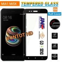 Xiaomi MI A1 MI A1 Tempered Glass Color Kaca Full Layar Hp 2.5D curved