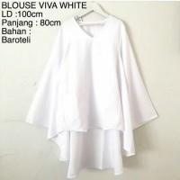 Baju Atasan Blouse Muslim Viva White