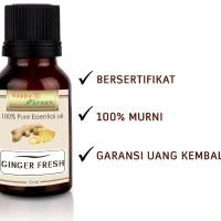 Happy green ginger fresh essential oil (10ml) - Minyak Jahe Murni