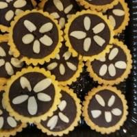 Kue Pastry Pie Brownies Almond rasa coklat, Home Made tanpa pengawet