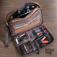 Dustin Two Tone Brown Clutch Vape Bag | Vaporizer | Tas Vape | Bova Ba