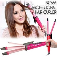 Catokan Nova 2 in 1 Big Curly And Straight Dengan Pengatur Suhu