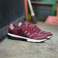 Sepatu Sneakers Adidas Climacool Maroon Cowok Cewek Murah