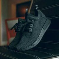 Sepatu Sneakers Adidas NMD R1 PK All Black Murah