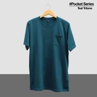 Kaos Polos Tshirt Pocket Teal Tritone - Teal Tritone, S