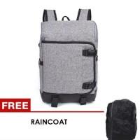 Unique Tas Ransel Laptop  free Raincoat - K8
