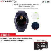4Connect V8 Smartwatch With GSM and Pedometer function + 8GB MicroSD