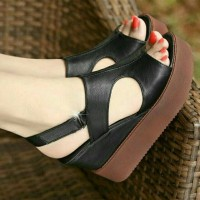 wedges jl06 wedges pesta wedges hitam