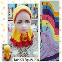 Jilbab Anak Bayi Instant Strawberry Kode KG003 Size : 4-24bulan