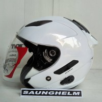 HELM KYT GALAXY SLIDE SOLID WHITE
