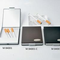 Cigaratte case kotak rokok bahan aluminium lapis kulit kualitas bagus