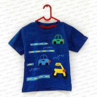 Cars on the Street Transportation Blue Shirt