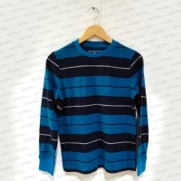 Classic Tosca Navy Blue Stripes Sweater