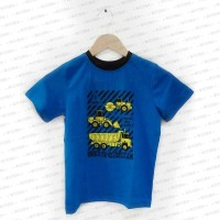 Under Construction Tractor Bulldozer Blue Shirt