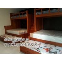 Dipan ranjang tempat tidur kamar anak jati jepara bunkbed