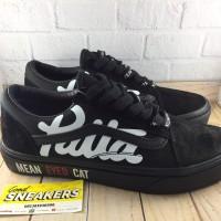 Sepatu Vans Oldskool X Patta X Beams Mean Eyed Cat All Black - Premium