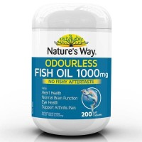 (Sale) Natures Way Odourless Fish Oil 1000mg - 200 caps