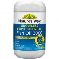 (Sale) Natures Way Odourless Triple Strength Fish Oil 3000mg - 70 caps