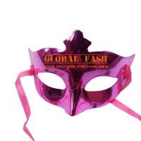 Topeng pesta polos pink/ wajah/ Party Mask metalik/ Masquerade Mask