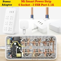 Xiaomi Mi Smart Power Strip Plug Terminal 6 Port + 3 USB Port 2.1A