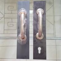Handel Stainless U Tekuk Pintu Folding Gate Harmonika Rolling Handle