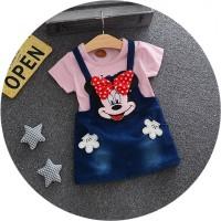 Setelan Baju Anak Cewek Import Cute Overall Skirt Jeans Minnie Mouse H