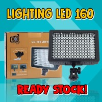 Lampu LED HD-160 Video continues light lighting for sony canon nikon